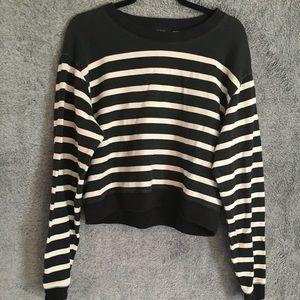 J Crew Cropped Striped Sweater